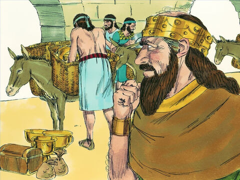 Hoshea, rather than fight, agreed to pay the Assyrians vast amounts of money each year to remain king. Later, Hosea decided to stop paying the Assyrians their tribute money. – Slide 10