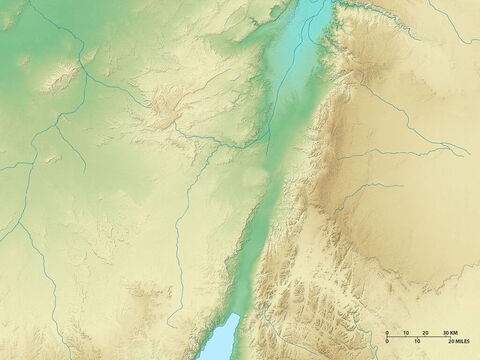 Map of regions south of the Dead Sea. Negev Desert to the west and North Arabian desert to the east. – Slide 6