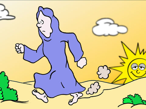 She immediately ran to find Simon Peter and John, two of Jesus' disciples. – Slide 4