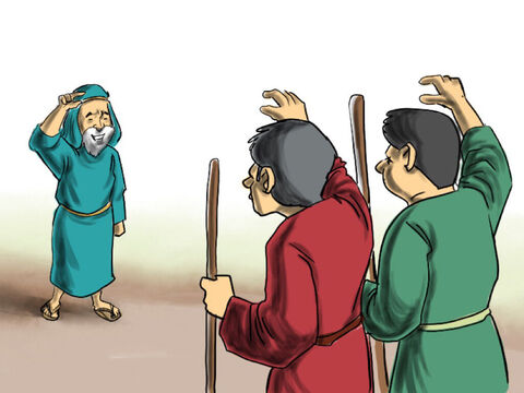 So Abram and Lot parted company. Lot headed off to live in Sodom and feed his animals on the fertile plains around the city. He had not taken into account in making this decision that the people of Sodom were very wicked. – Slide 4