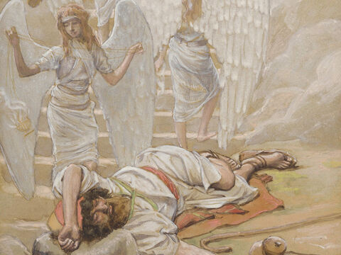Jacob's dream. <br/>(Cropped). <br/>James Tissot (1836-1902) – The Jewish Museum, New York. – Slide 10