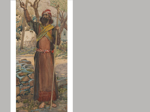 Zechariah. <br/>James Tissot (1836-1902) – The Jewish Museum, New York. <br/>Zechariah means 'Yah(weh) has remembered,' which is his message to Jerusalem after the exile. While Haggai called on the people to erect the temple of God, Zechariah summoned the community to repentance and spiritual renewal. His task was to prepare the people for proper worship and temple service once the building project was completed. – Slide 21
