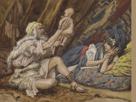 Birth of Noah. <br/>(Full painting). <br/>James Tissot (1836-1902). <br/>The Jewish Museum, New York. – Slide 1