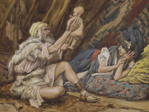 Birth of Noah. <br/>(Cropped). <br/>James Tissot (1836-1902). <br/>The Jewish Museum, New York. – Slide 2