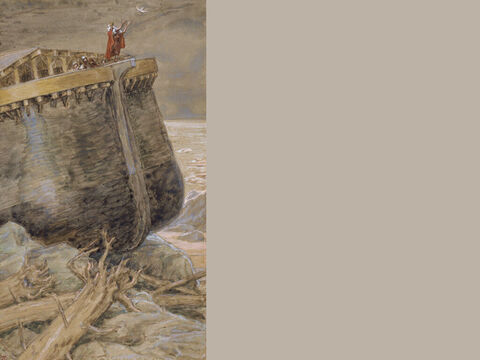 The dove returns to Noah. <br/>(Full painting). <br/>James Tissot (1836-1902). <br/>The Jewish Museum, New York. – Slide 13