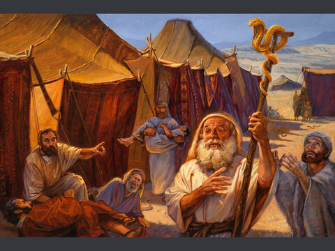 Moses on Mount Nebo. <br/>Then Moses went up from the plains of Moab to Mount Nebo, to the top of Pisgah, which is opposite Jericho. And the LORD showed him all the land. <br/>Deuteronomy 34:1 <br/>Full text: Deuteronomy 34:1-7 – Slide 9