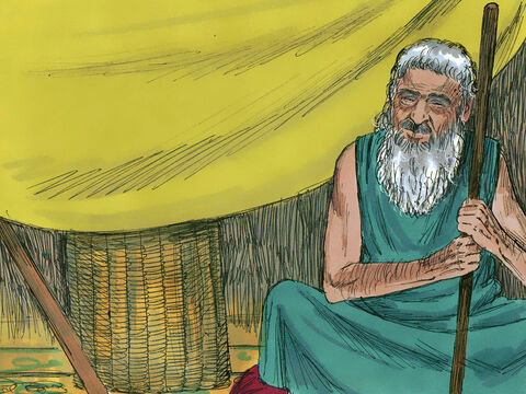 When Isaac was old his eyes were so weak he could no longer see. – Slide 1