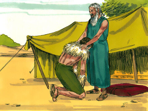 Jacob kissed his father and when Isaac caught the smell of his clothes, he blessed him (v27-29). He made him lord over his brother and all his relatives. Nations and people would bow down to him. Those who cursed him would be cursed and those who blessed him would be blessed. – Slide 7