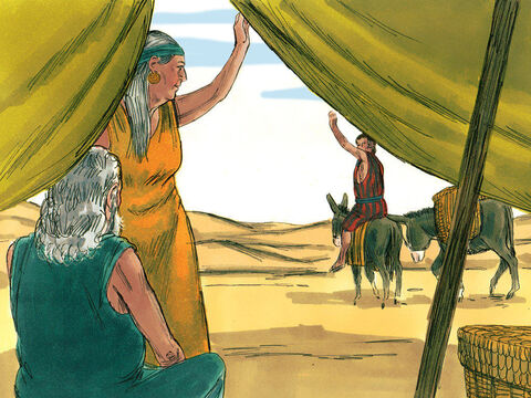 When Jacob found out his brother Esau was planning to kill him in revenge for deceiving him out of his father's blessing, his mother suggested he fled to stay with her brother Laban. Isaac blessed Jacob before he left and told him not to marry a Canaanite woman but find a wife from the daughters of Laban. – Slide 1