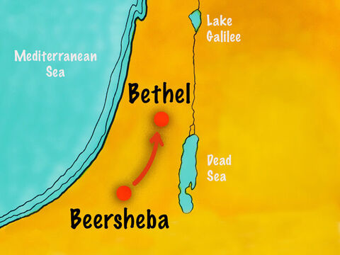 He called that place Bethel which means 'House of God.' – Slide 8