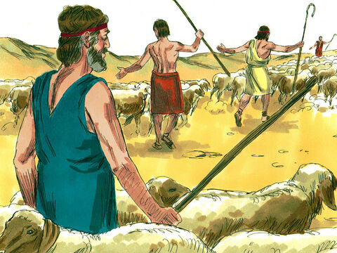 He divided those who were with him into two groups so that if Esau attacked one group the other group might escape – Slide 4