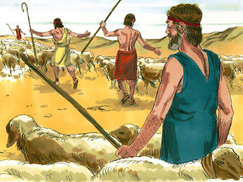 He made separate flocks for himself and these became larger and stronger than those that belonged to Laban. In this way Jacob became very rich and had many servants. – Slide 5