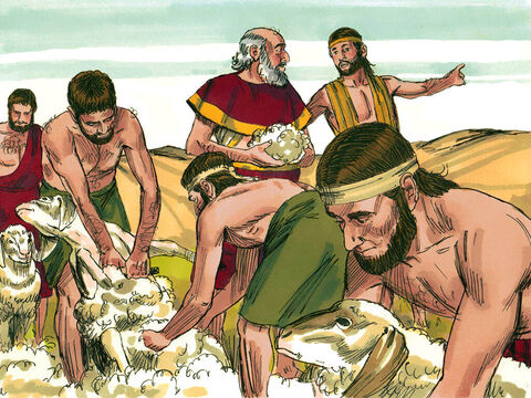 Three days later Laban was told that Jacob had gone. He immediately set off in pursuit. – Slide 8