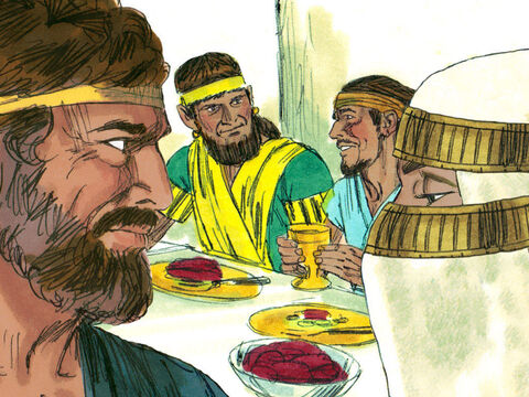 At the end of the seven years Laban held a wedding feast. But Laban gave Leah and not Rachel to Jacob as his bride. – Slide 9