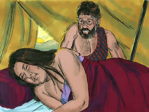 It was not until the next morning that Jacob discovered he had married Leah and not Rachel. – Slide 10