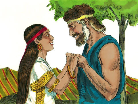 Jacob agreed. A week later, Rachel became his wife also. Jacob worked another seven years for Laban. – Slide 12