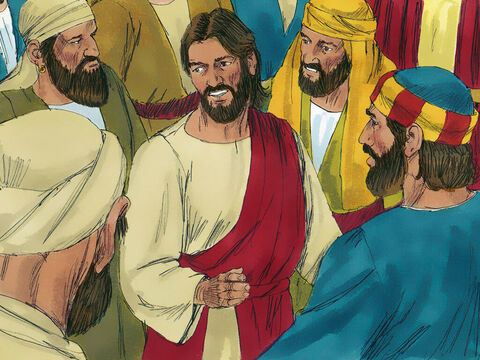 At once Jesus knew power had gone out from Him. He turned round in the crowd and asked, 'Who touched me?' His disciples replied, 'Everyone is crowding around and pushing. Yet you ask who touched you?' But Jesus said, 'Someone touched me; I know that power has gone out from me.' – Slide 8