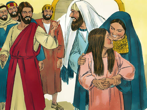 Jesus told her astonished parents to give her something to eat. Then Jesus ordered them not to tell anyone what had happened. – Slide 15