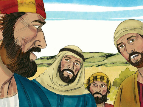 The disciples listened but did not grasp what Jesus was saying. – Slide 3