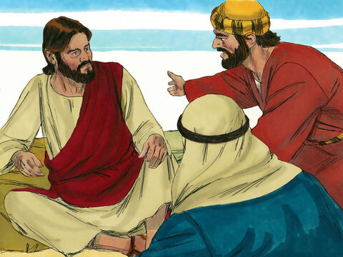 James and John came to Jesus. 'Teacher, we want You to do for us whatever we ask,' they insisted. 'What do you want Me to do for you?' Jesus asked. – Slide 4