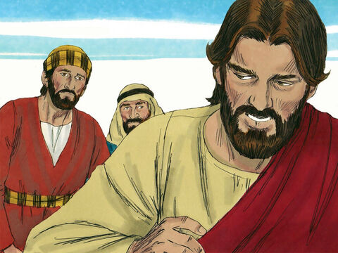 'Yes we are,' they insisted. 'Then you will indeed drink from my bitter cup and be baptised with my baptism of suffering, Jesus told them. 'But I have no right to say who will sit on my right or my left. God has prepared those places for the ones He has chosen.' – Slide 7