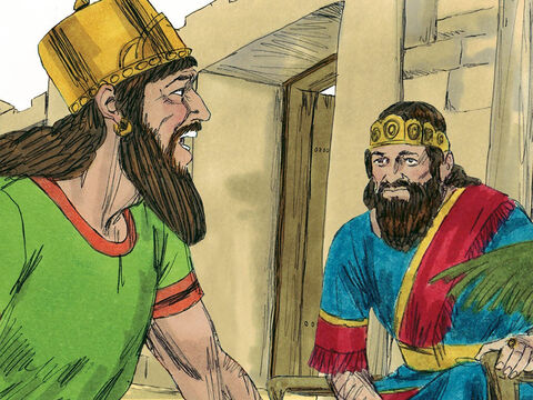 'There is still one prophet of the Lord known as Micaiah,' Ahab answered, 'but I hate him because he never prophesies anything good about me, but always bad.' Jehoshaphat insisted Micaiah was summoned. – Slide 8