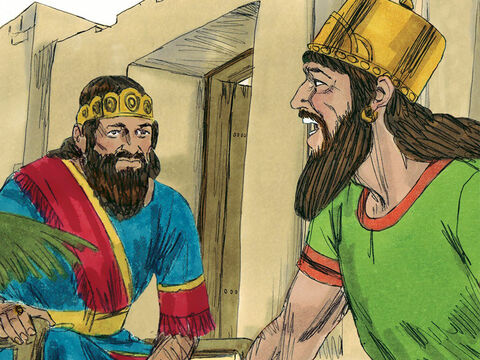 Foolishly, Jehoshaphat ignored God's warning through Micaiah. He joined forces with King Ahab and set off to attack Ramoth-Gilead. He even went along with Ahab's plan that he would go to war in royal robes but Ahab would disguise himself.' – Slide 20