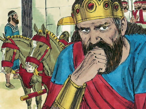 The battle was lost but Jehoshaphat returned safely to his palace in Jerusalem. – Slide 24