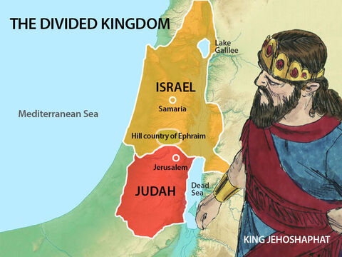 The king learnt his lesson and set out once more to turn the people of Judah and the hill country of Ephraim back to God. – Slide 26