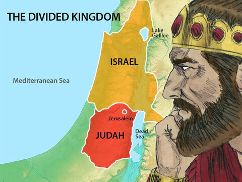When King Asa died, his son Jehoshaphat became king of the southern Kingdom of Judah. He was 35 years old. King Ahab was ruler of the northern kingdom. – Slide 1