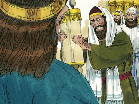 In the third year of his reign he chose officials, priests and Levites to go out and teach God's ways to everyone in the nation. They took the Book of God's Laws with them. – Slide 4