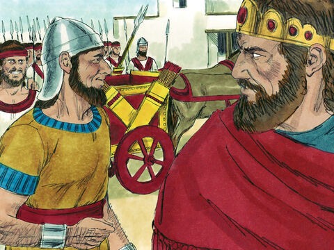 Jehoshaphat recruited a large army of experienced fighting men who were stationed in Jerusalem and the fortified cities of Judah. – Slide 11