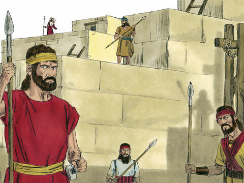 Over a million men were trained and equipped to defend the nation. (There are further sets of images about Jehoshaphat and the battles he faced at FreeBibleimages). – Slide 12