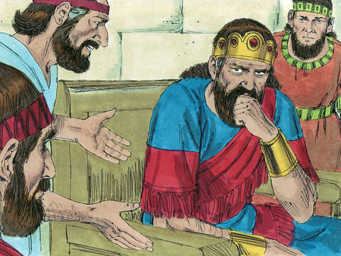 Alarmed, Jehoshaphat decided to ask God what to do, so he proclaimed a fast for all Judah. – Slide 3