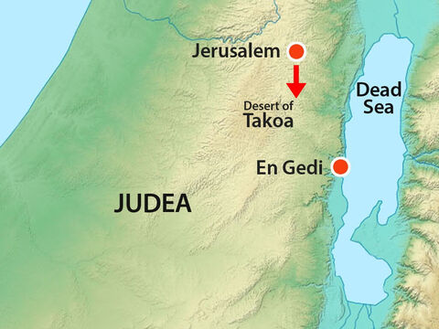 Early in the morning they left for the Desert of Tekoa. As they set out, Jehoshaphat stood and said, 'Believe in the Lord your God and you will have success! Believe his prophets and everything will be all right!' – Slide 10