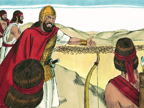 So, when the army of Judah arrived on the scene, all they found were dead bodies lying on the ground—not a single one of the enemy had escaped. – Slide 13
