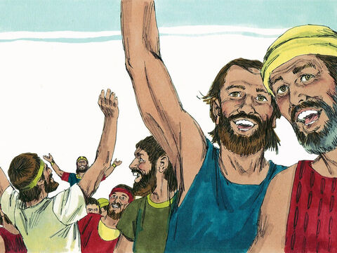 On the fourth day they gathered in the Valley of Blessing, as it is called today, to give thanks and praise to God. – Slide 16