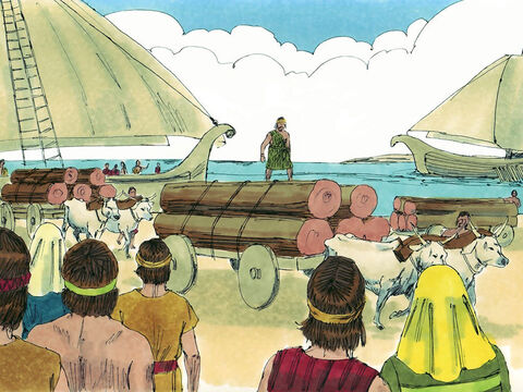 They built ships at Ezion-geber to sail to Tarshish. The ships set sail to open up routes for new trade. – Slide 19
