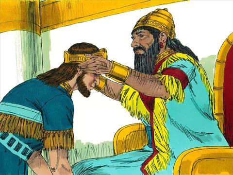 King Nebuchadnezzar appointed 21 year old Zedekiah to be his puppet ruler of Judah with responsibility for collecting large tributes of crops and taxes to be paid to Babylonians each year. – Slide 2