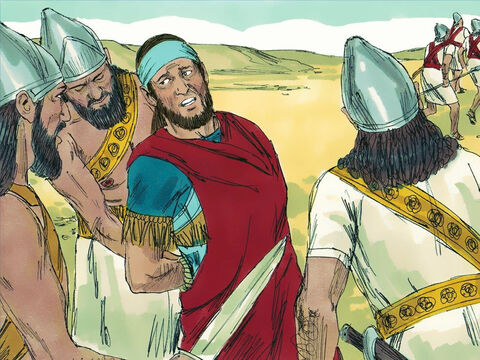 But they were discovered as they raced towards the Jordan valley. The Babylonians captured King Zedekiah near Jericho. All his soldiers deserted him and ran away. – Slide 13