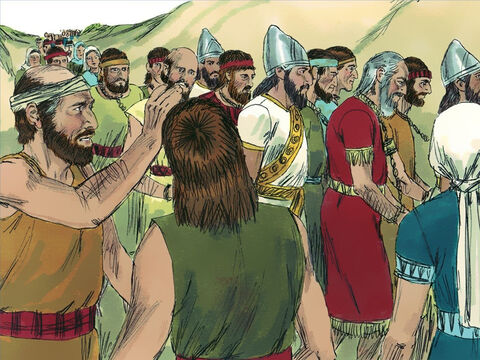 The people of Jerusalem who were still alive were made captives and taken back to Babylon. Only the very poor were left behind to work in the fields and vineyards. Jeremiah however was released and given food and money by the Babylonians. – Slide 17
