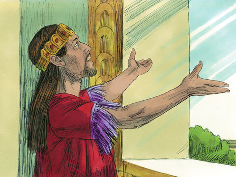 After the wicked reign of King Amon, King Josiah was crowned king. He loved and obeyed the Lord. – Slide 1