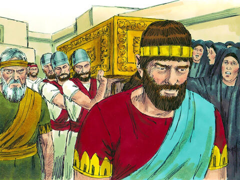 Pharaoh Necho II intervened to put Eliakim on the throne in his place and changed his name to Jehoiakim. He would act as a puppet king to do what the Egyptians wanted and the people of Judah would pay the Egyptians tribute money. – Slide 7