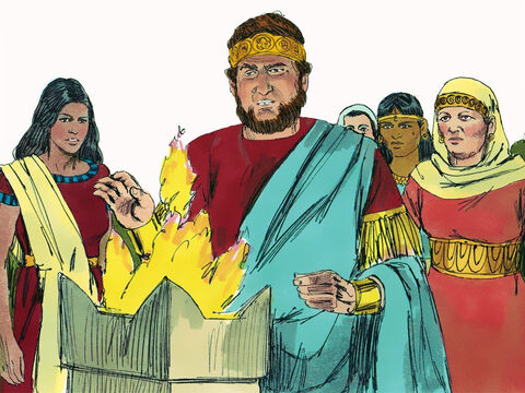 Jehoiakim worshipped false gods and became a godless tyrant who committed atrocious sins and crimes. – Slide 8