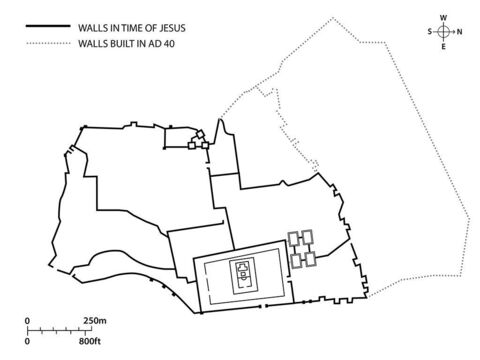 The main city walls of Jerusalem in the time of Jesus. – Slide 4