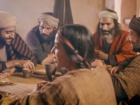 Lazarus ate at the table with Jesus and His disciples. – Slide 2