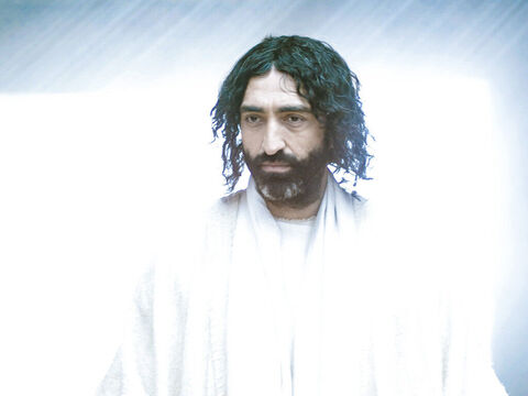 'Peace be with you,' said Jesus. The disciples thought they were seeing a ghost and were frightened. – Slide 3