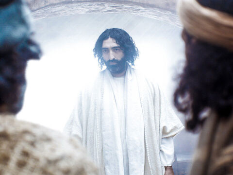 'Why are you troubled and have doubts that I am alive?' asked Jesus. 'Look at my hands and feet. It's me. Touch me and see that I am not a ghost.' – Slide 4