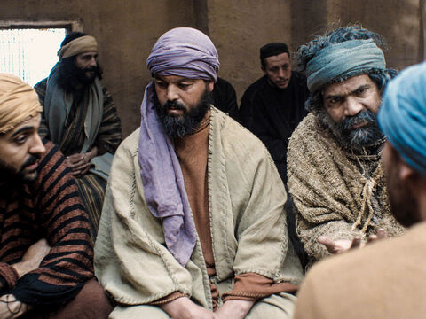 A week later the disciples were in the house again and this time Thomas was with them. The doors were locked. – Slide 4