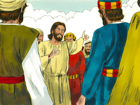 After rising from the dead, Jesus met with his disciples and followers, giving convincing proofs that he was alive. He appeared to them over a period of forty days and spoke about the Kingdom of God. – Slide 1